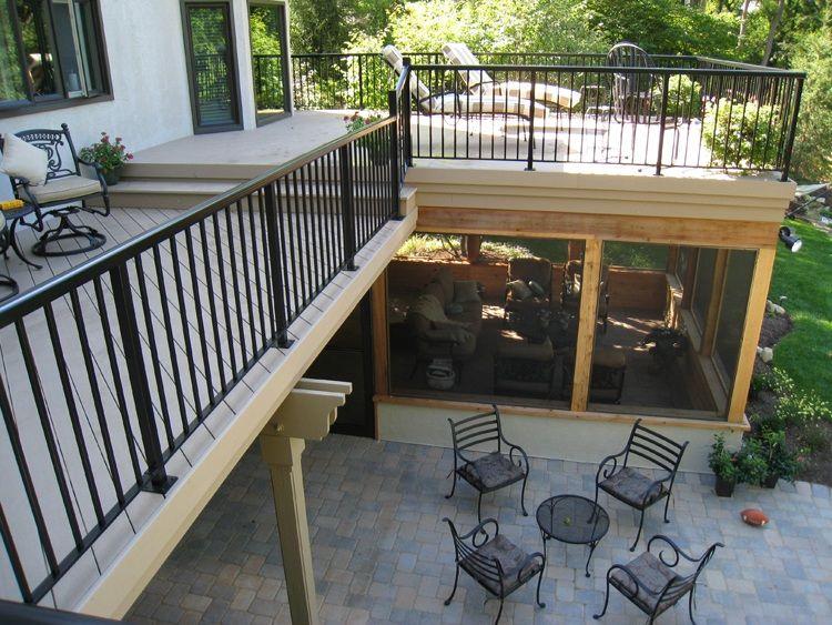 Deck Design With Screen Porch Below | Columbus Under Deck Screened Porches  | Columbus Decks,