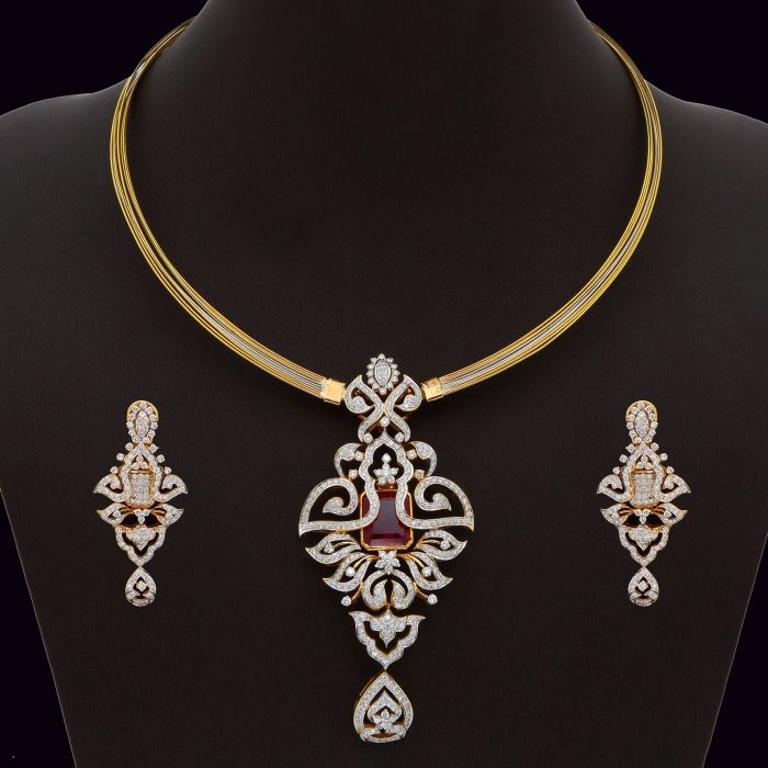 stones vidya pendant pid sets products diamond haritika set with jewellery