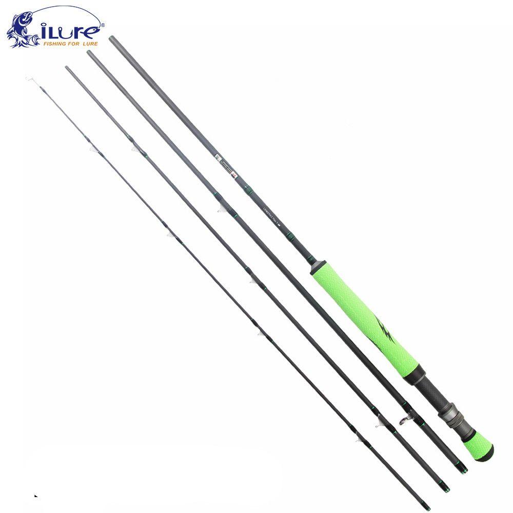 Ilure Carbon Fly Fishing Rod 5 6 7 8 2 28m 2 7m Light Lure Rods Pu Grip Double Lock Wheel Seat Pole Olta Pesca Stick Fly Fishing Rods Fly Fishing Fly Rods