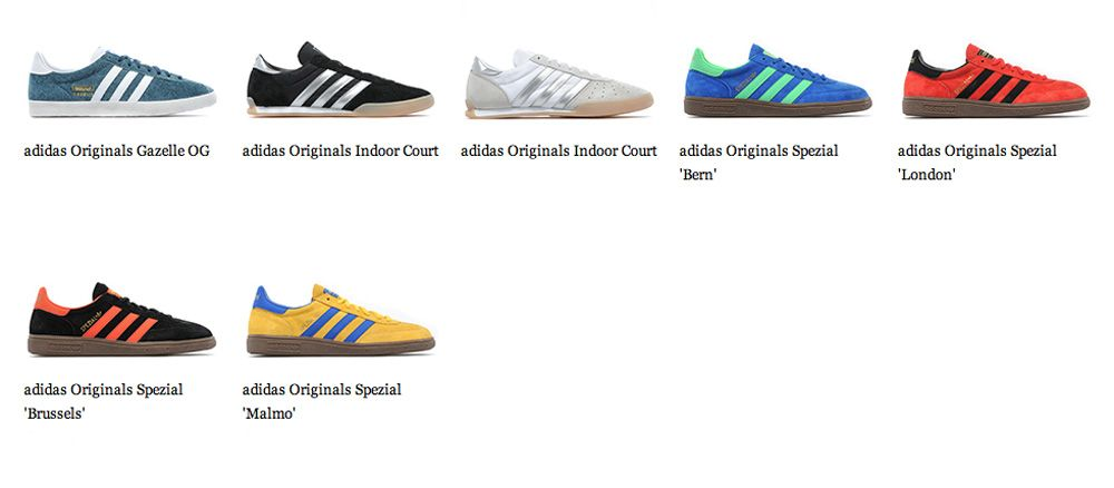 Inicialmente Correctamente creer  Adidas Spezial Bern - London - Brussels - Malmo