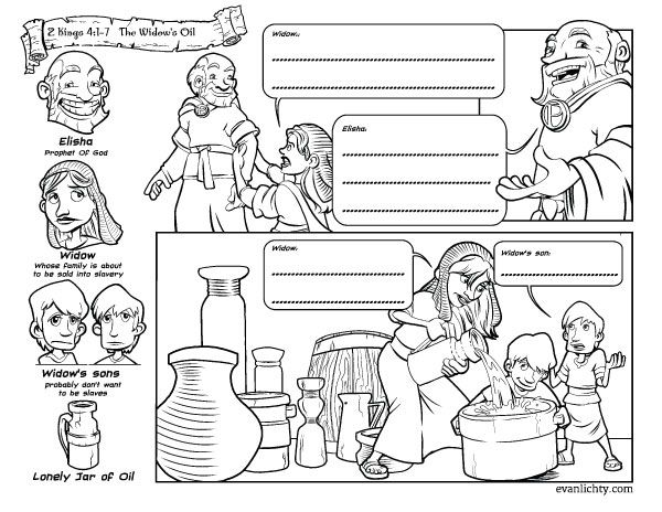 A widow begs elisha for help during a famine and receives for Elisha coloring pages