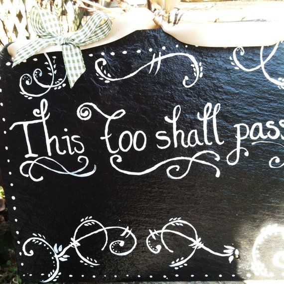 This Too Shall Pass Sign, Religious Signs, Decorative Signs, Yard Signs,  Door