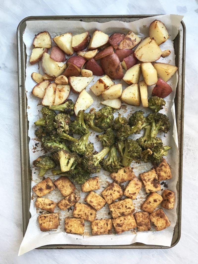 Sheet Pan Tofu Veggies Plant Based Jane Recipes