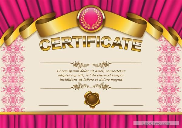 Free Vector certificate template exquisite vector 12 vector download - new certificate vector free