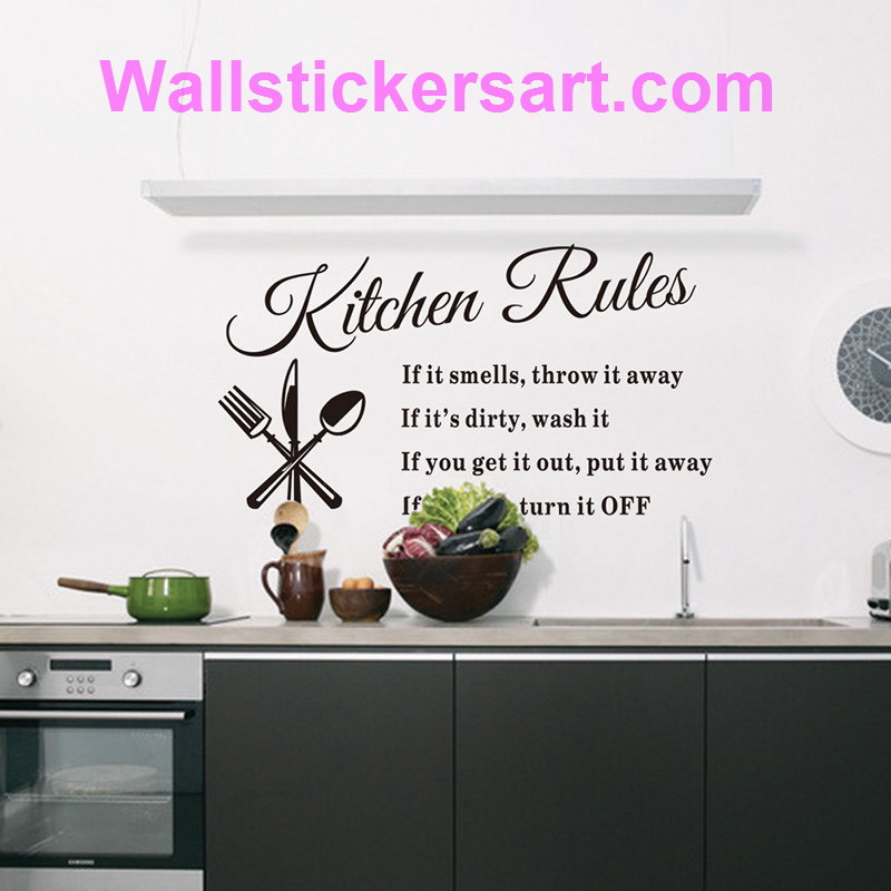home decor Removable Wall Stickers For Kitchen is part of Home Accessories Decor Awesome - home decor Removable Wall Stickers For Kitchen  free shipping