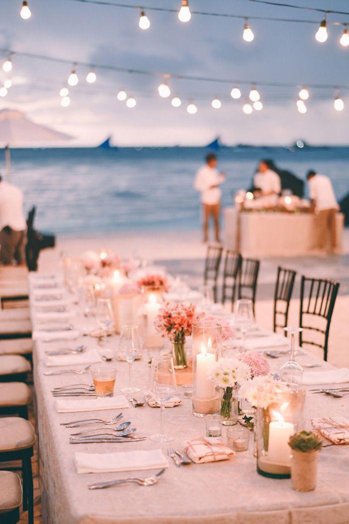 Pin By Varela On One Day Night Beach Weddings Sunset Beach Weddings Romantic Beach Wedding