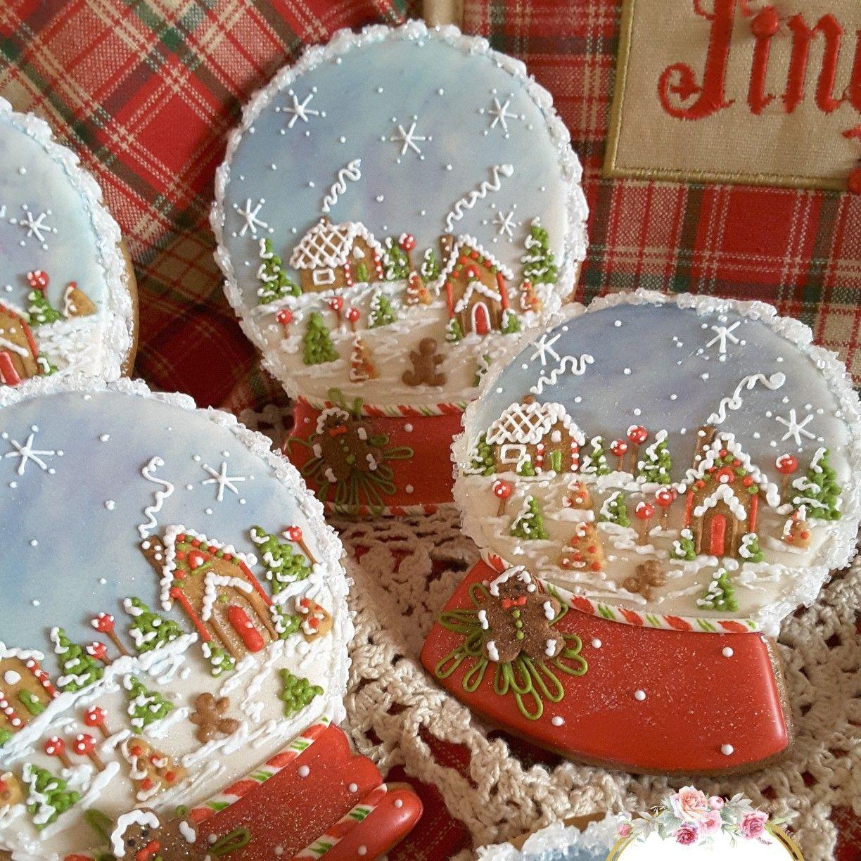 Snow globe cookies, Christmas cookies, gingerbread cookies, keepsake ...