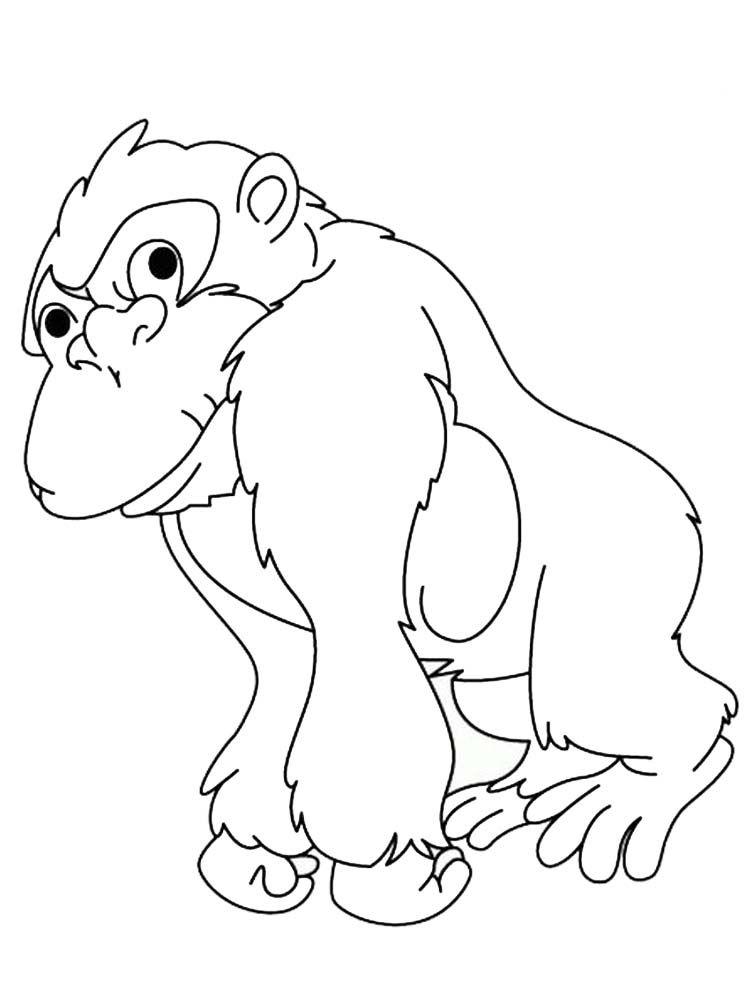 Free Printable Gorilla