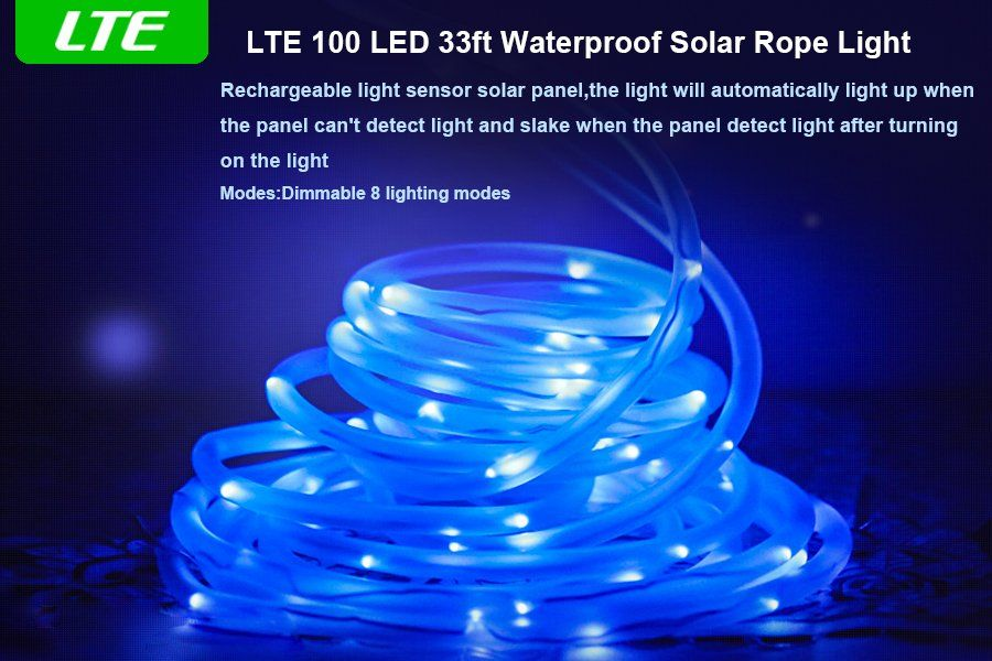 Amazon lte solar rgb rope lights 100 led 8 modes 33ft amazon lte solar rgb rope lights 100 led 8 modes aloadofball Images