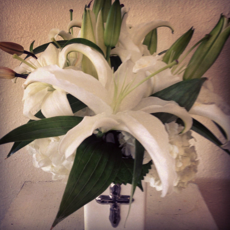Easter Lilies Flower Arrangement