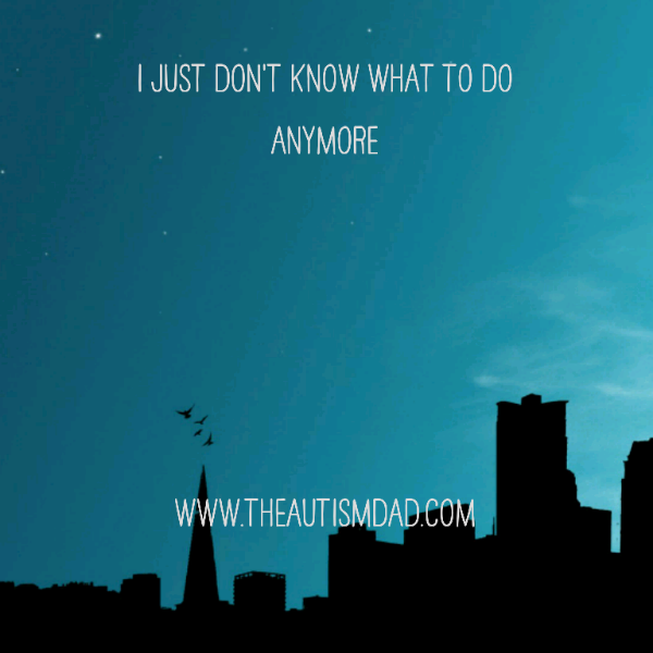 """""""I just don't know what to do anymore""""  I'm at a complete and total loss here because no one seems to know what to do about this.  http://www.theautismdad.com/2016/05/16/i-just-dont-know-what-to-do-anymore/  Please Like, Share and visit our Sponsors   #Autism #AutismSpectrum #Gratitude #SingleParenting #AutismAwareness #AutismParenting #Family #SpecialNeedsParenting #followme #Ohio #SpecialNeeds #Parenting #ParentingAdvice #Parenthood #SPD #ASD #picoftheday #DaddyBlogs #TheAu"""