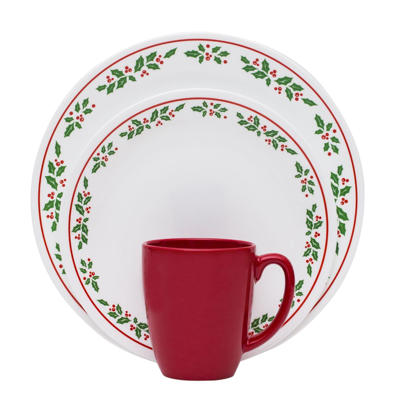 Corelle® Livingware™ Winter Holly 16-Pc Dinnerware Set - a beautiful ...