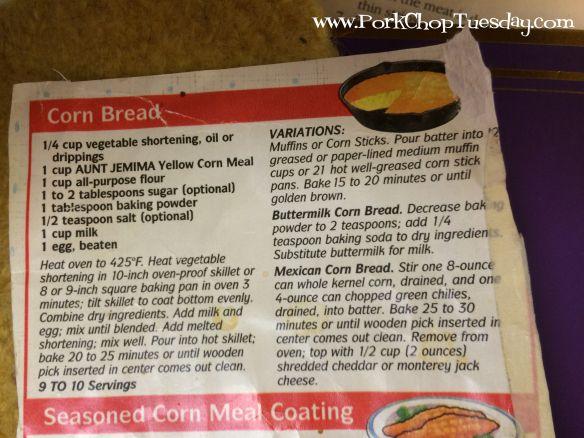 Aunt Jemima Cornbread recipe for dressing | Corn bread recipe, Cornbread