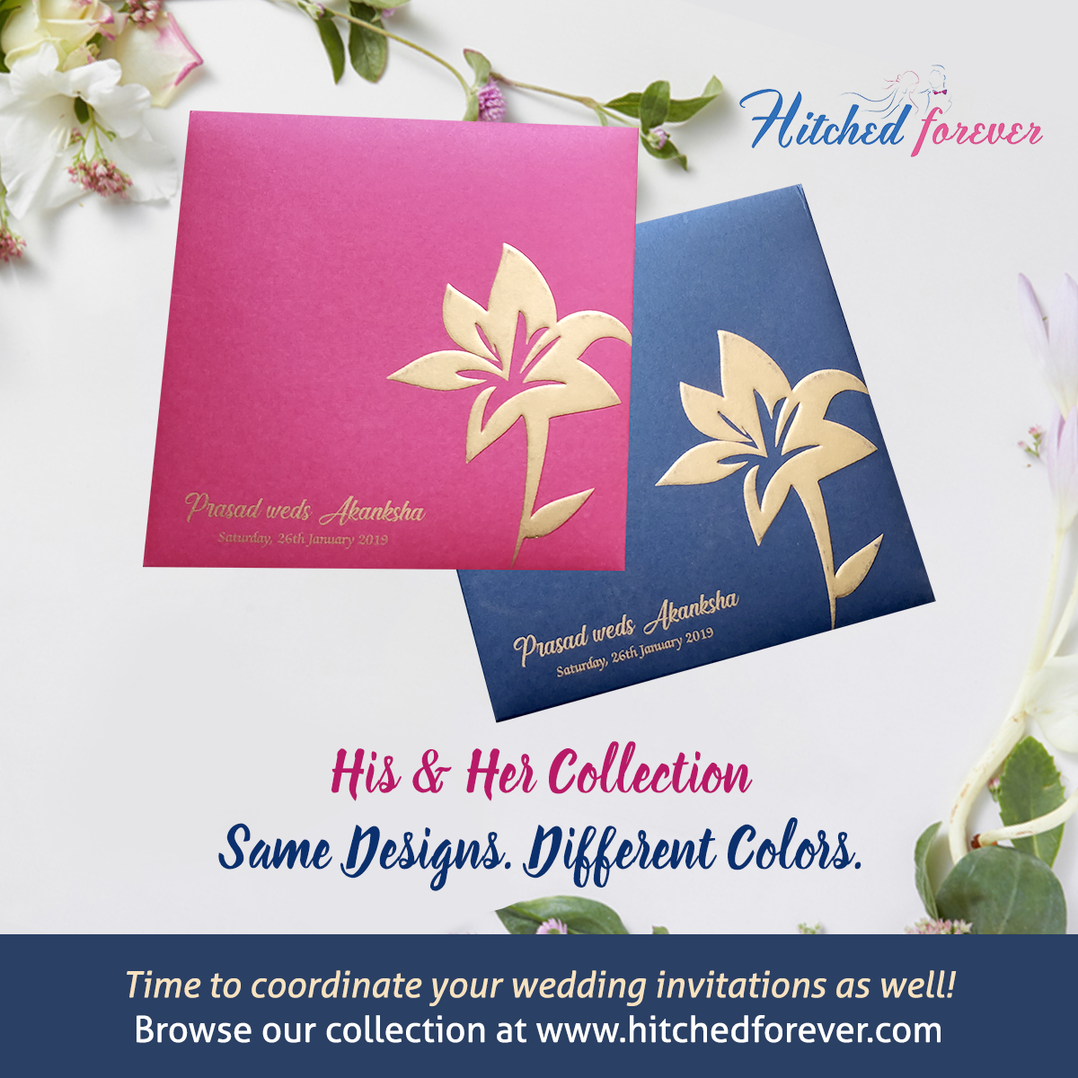 Now match your wedding invites too! Coordinate your cards