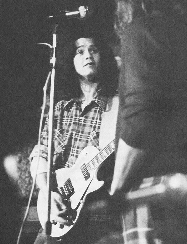 A young Eddie Van Halen All things VH Van Halen