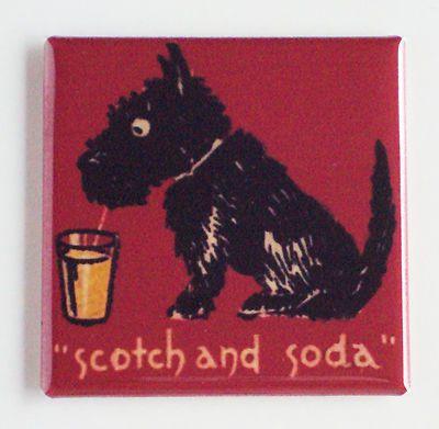 Scotch Soda Fridge Magnet Scottish Terrier Scottie Scotty Dog Vintage Style   eBay