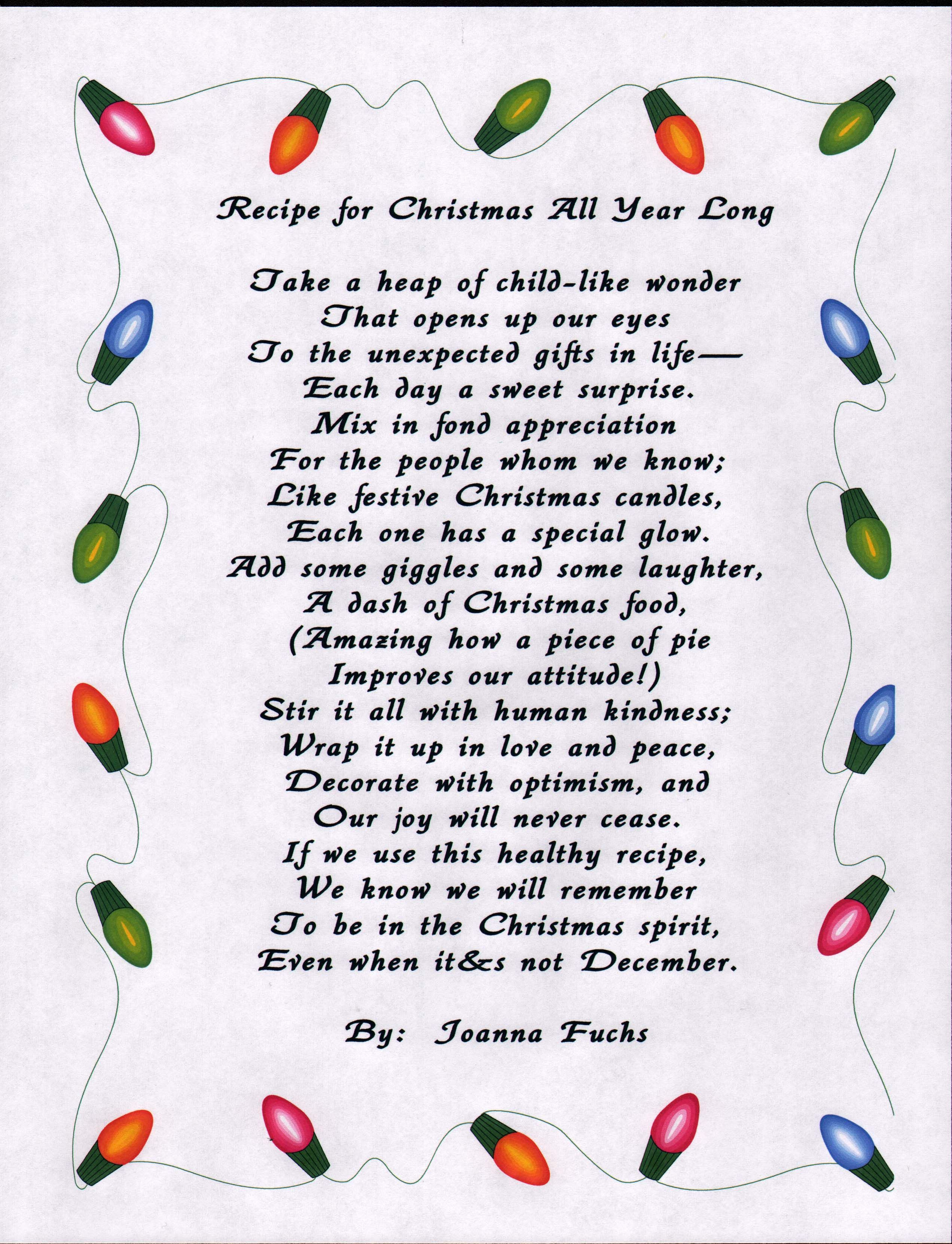 Pin by Rick White on christmas | Pinterest | Poem, Bible school ...
