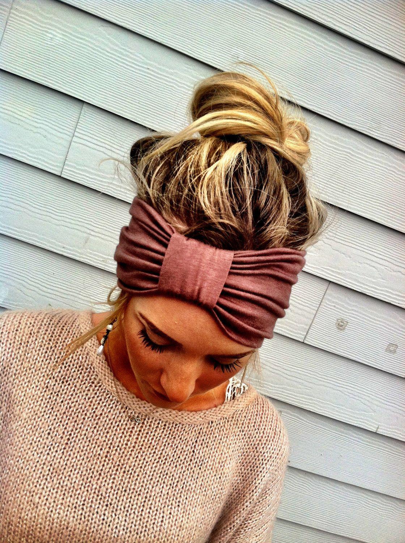 Mocha turband headband wide head wraps brown sparrow headband
