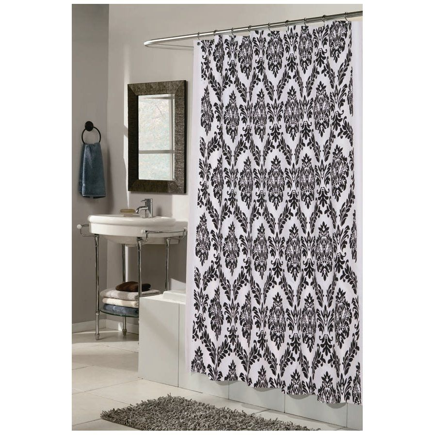 Marino shower curtain damask fabric pinterest retro bathrooms