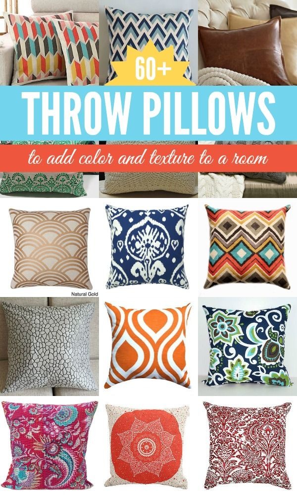 Fun And Funky Throw Pillows A Quick Easy Way To Change Up The Decor In Room Remodelaholic Spon Color
