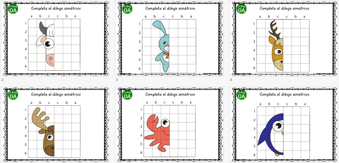 Cuaderno De Atencion Dibujamos Animales Simetricos Dibujos De Animales Dibujos De Colores Fichas De Animales