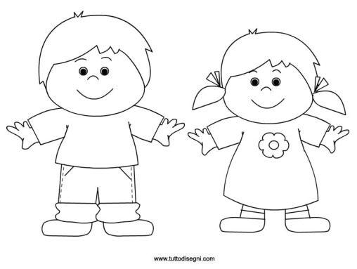 Disegni Da Colorare Di Bambini Che Si Tengono Per Mano.Bambini Da Colorare Bambini Da Colorare Arte Di Bambino Disegno Per Bambini