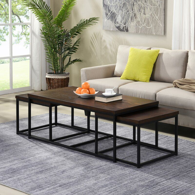 Reimund 3 Piece Coffee Table Set In 2020 3 Piece Coffee Table Set Coffee Table Coffee Table Setting