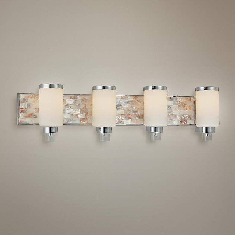 Cashelmara Collection 34 Wide Chrome 4 Light Bath Light J0954 Lamps Plus Bath Light Bathroom Lighting Bathroom Light Fixtures