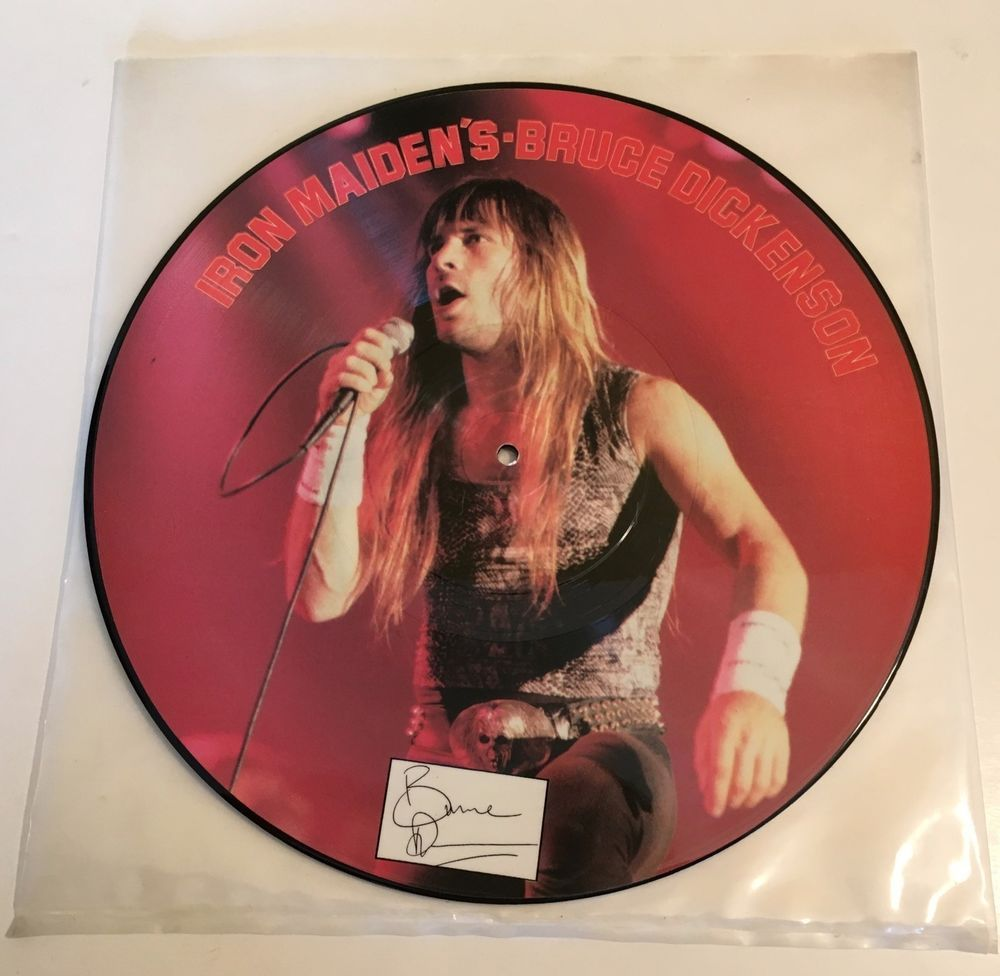 Iron Maiden S Bruce Dickenson Interview Picture Disc 12 45 Rpm Lp Iron Maiden 45 Rpm Interview