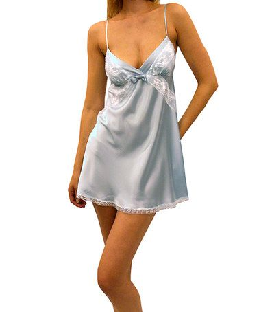 Loving this Soft Blue Lucy Charmeuse Chemise - Women on #zulily! #zulilyfinds