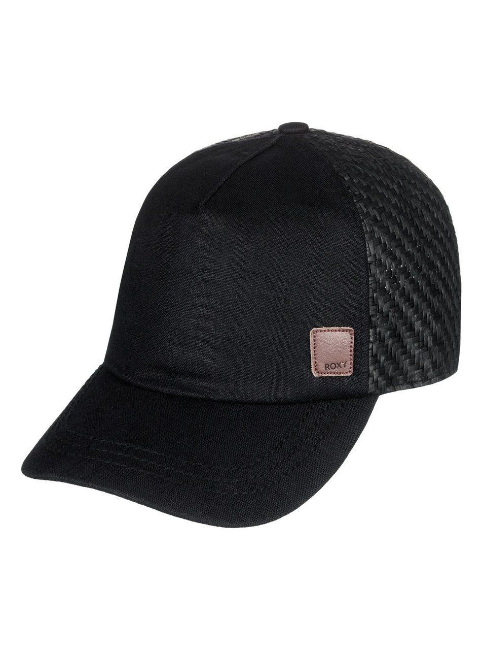 46dcdcb0a31c3 Roxy Women's Incognito Trucker Hat (Anthracite Black) -- 6 panel trucker  style hat with a curved visor and leather patch.