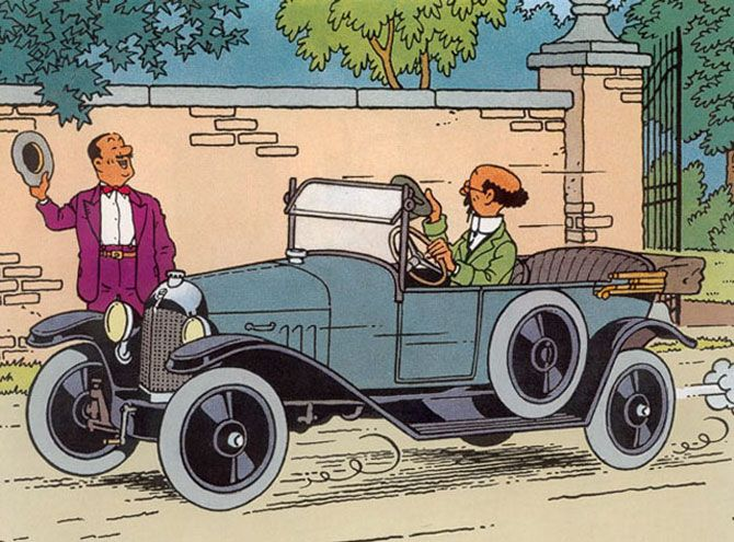 Tintin Citroen Ads