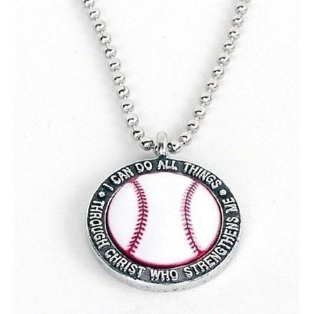 Baseball pendant ball chain christian and pendants baseball pendant aloadofball Gallery