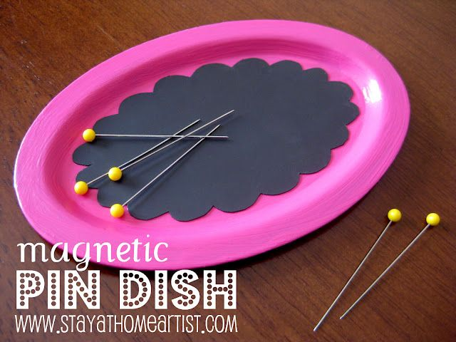 Even easier than the one I pinned yesterday! Use a magnetic sheet & stick it on any dish!