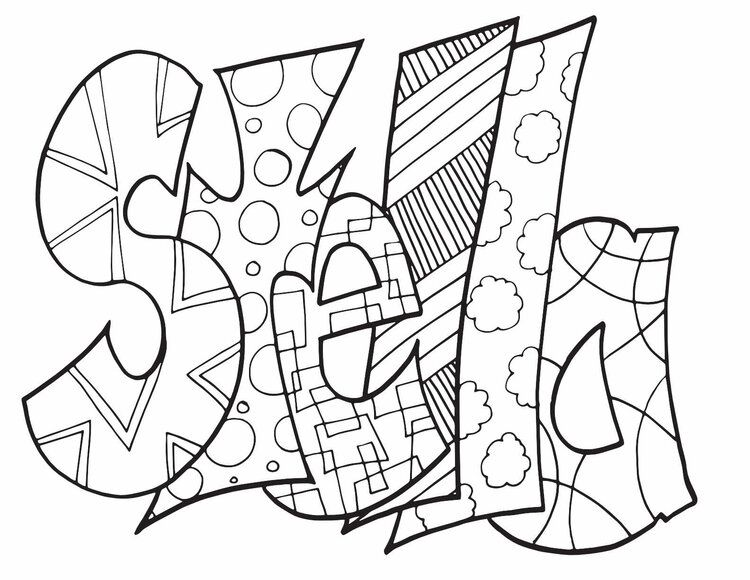 Stella Classic Doodle Free Coloring Page Stevie Doodles Name Coloring Pages Coloring Pages Free Coloring Pages