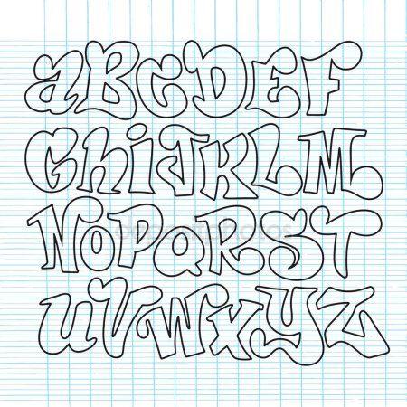 Vector Conjunto De Tipos De Letra Manuscritas Letras Del Alfabeto Abc Tipos De Letras Moldes De Letras Bonitas Tipos De Letras Abecedario