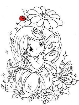 Coloring Cute Free Pages For Kids Fairy Color Page Fairies