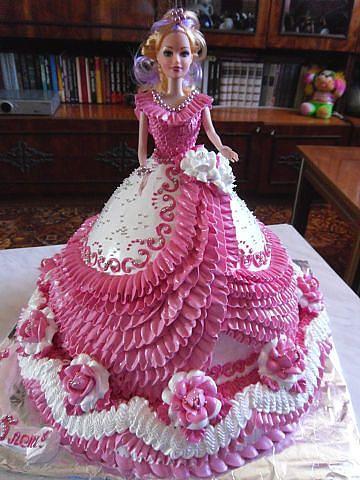 14++ Barbie dress birthday cake ideas