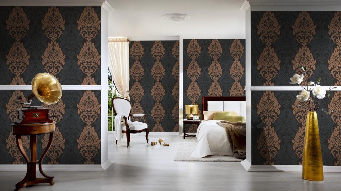 Tapeten im Wohnzimmer; AS Création Tapete 961903 Wandgestaltung
