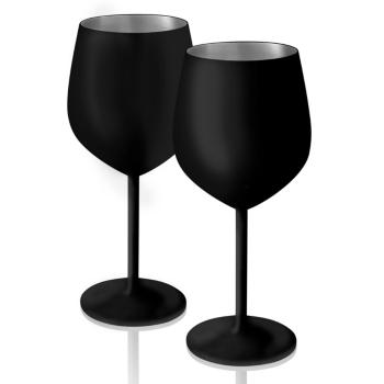 Artland Colton 17 Oz Black Matte Glasses Set Of 2 Reviews Glassware Dining Macy S In 2020 Goblet Artland Wine Glass