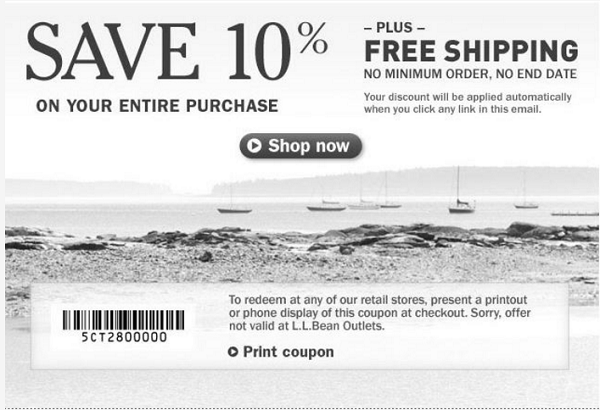 Save 10 Off Your Purchase Plus Free Shipping At L L Bean