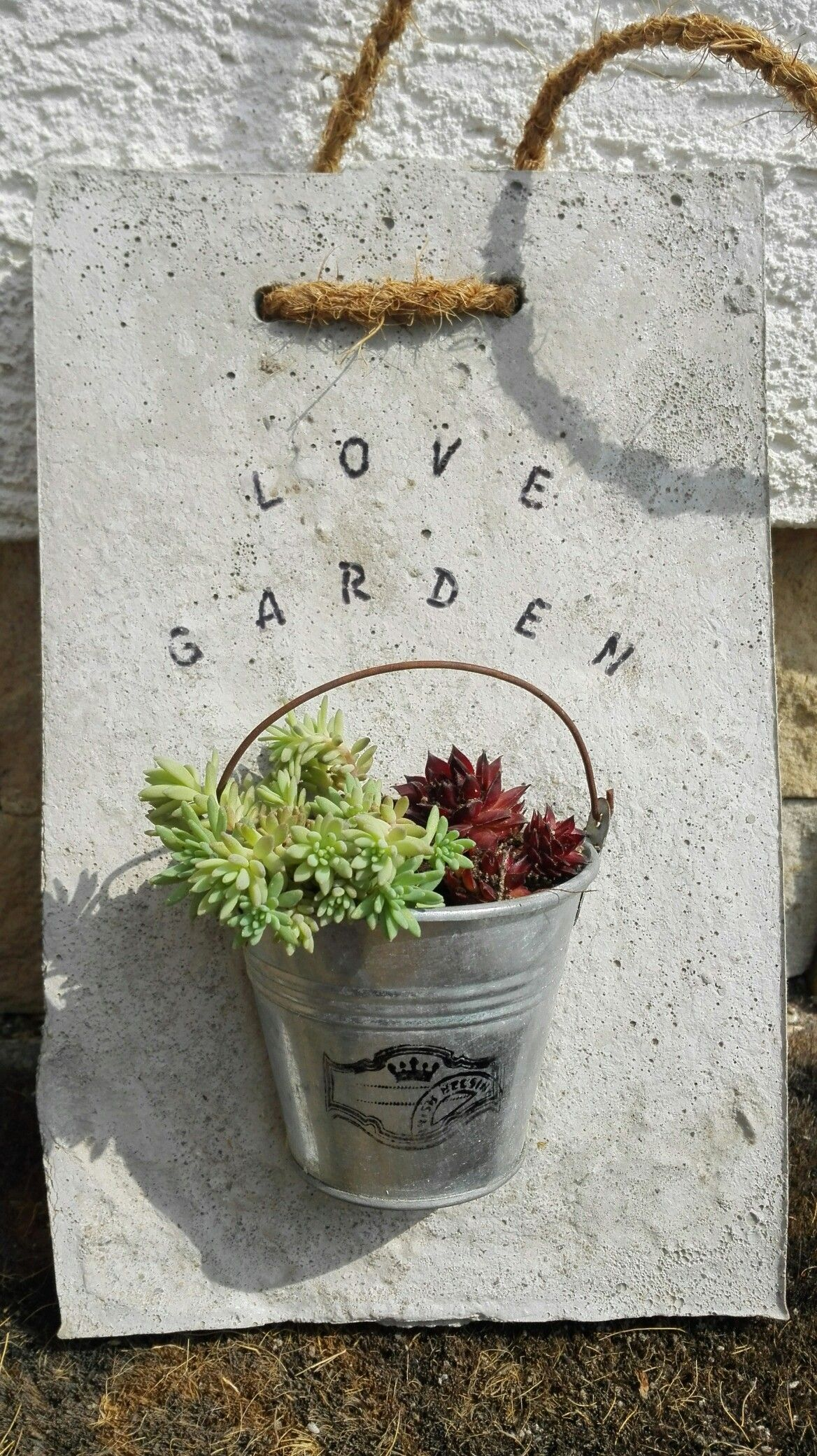 My Beton Decorhand Made Diy Concretediy Decorationrock Garden Artcement