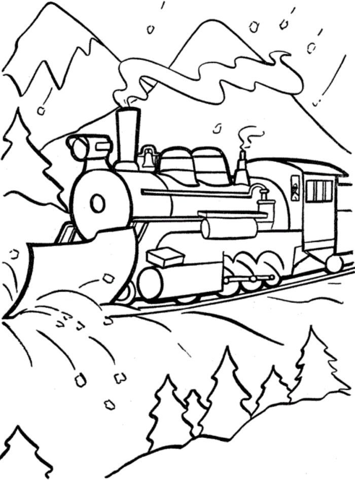 Christmas Express Train Coloring Pages