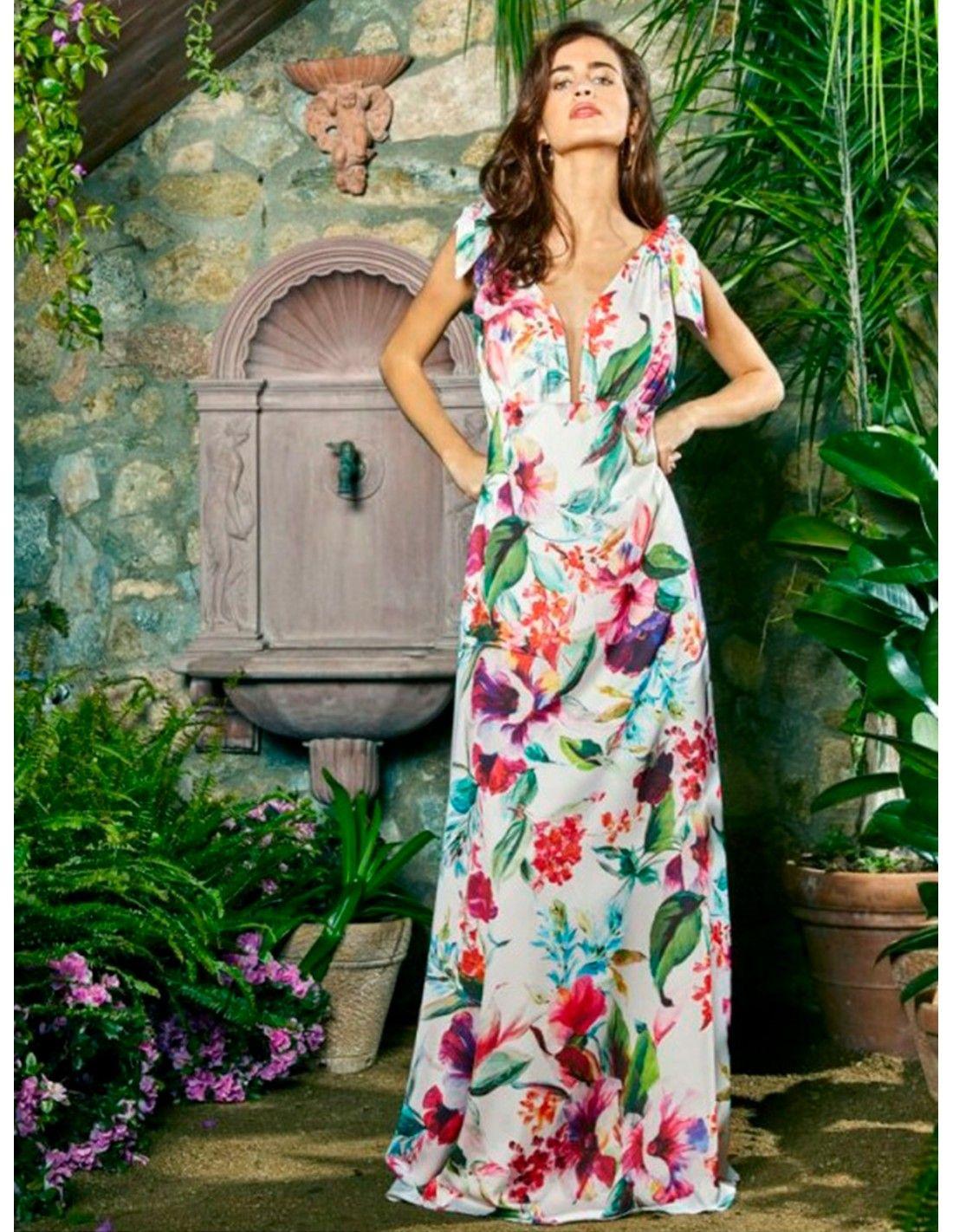 f5ce95d4c84 Vestido Bahamas - Impresionante vestido con un estampado muy ...