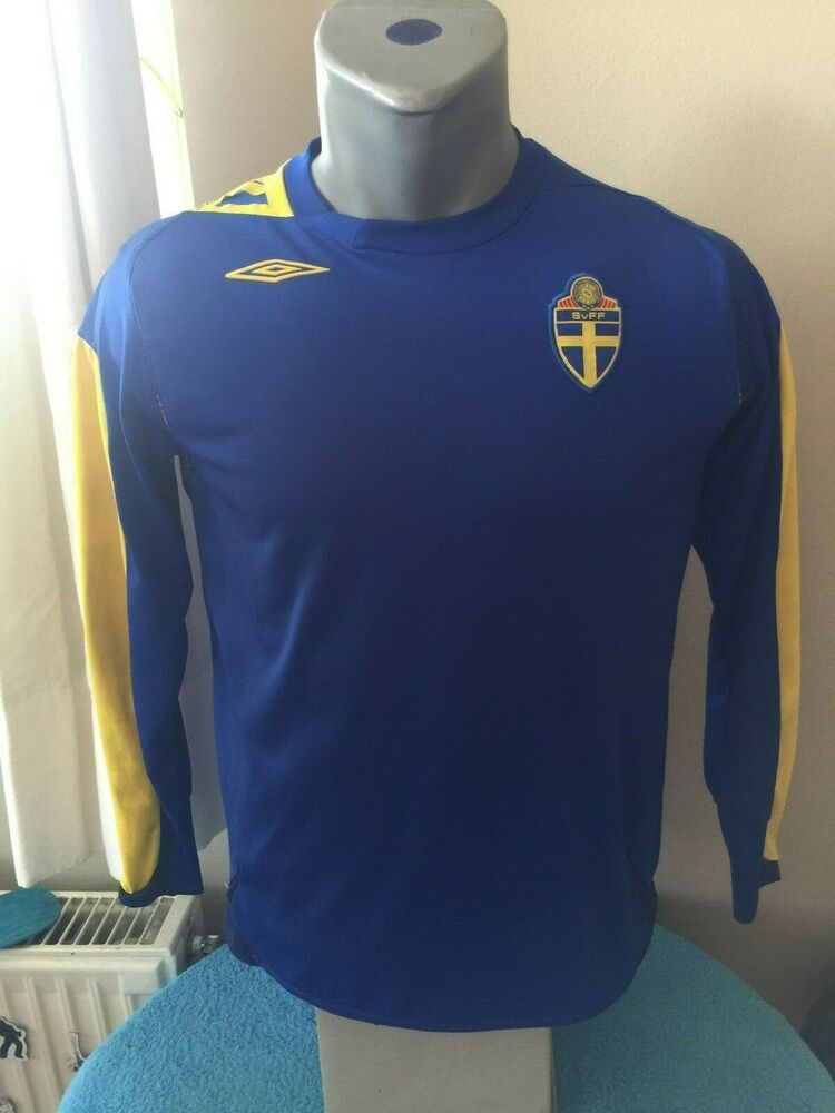 Download Sweden Svff Retro 2006 08 Away Football Shirt Soccer Jersey Trikot Camiseta Svff Umbro Football Shirts Soccer Jersey Football