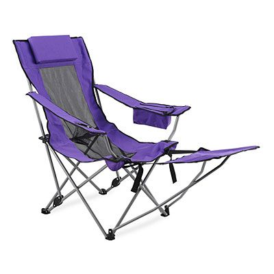 Wilson Fisher Purple Quad Chair With Footrest At Big Lots Outdoor Chairs Affordable Outdoor Furniture Chair