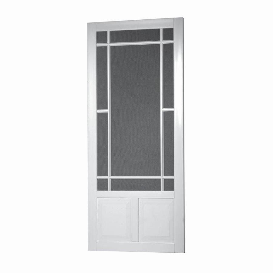Shop Diy 34 In White Vinyl Screen Door At Lowes Canada Find Our