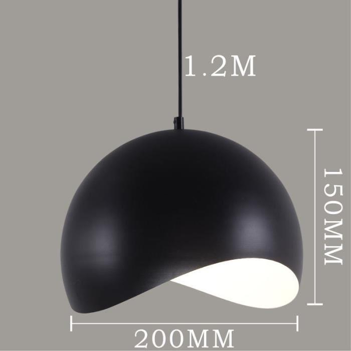 Lustre et suspension moderne lustre et suspension ø20cm noir réglable hauteur plafond 1m