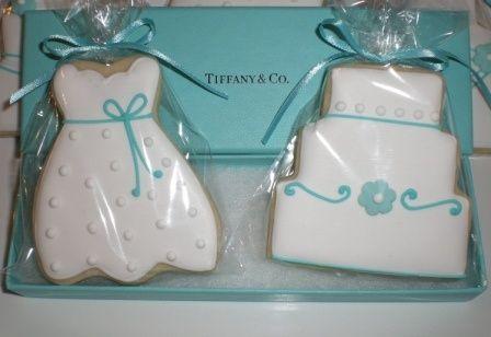 tiffany blue bridal shower cookies.