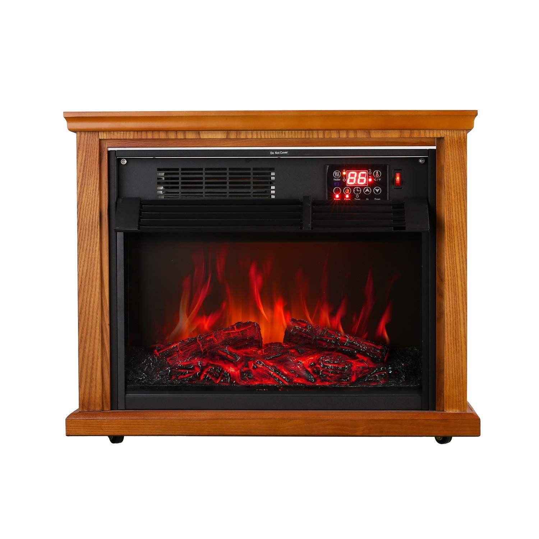 Amazon Com Ainfox Electric Fireplace Heater 1000w 1500w Infrared